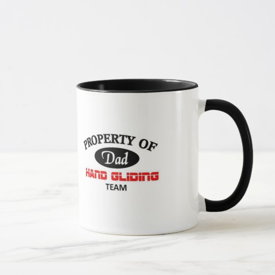 property of dad hand gliding team mug