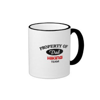 Property of dad hiking team coffee mugs