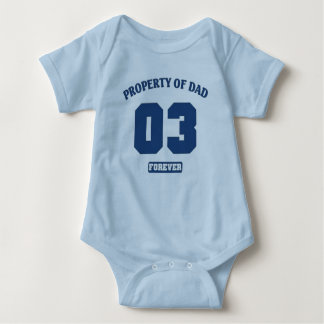 Property of dad o3 forever baby bodysuit