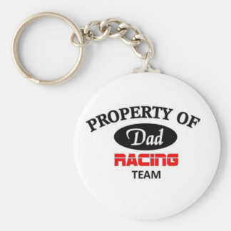Property of dad racing team key chains