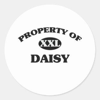 Property of DAISY Classic Round Sticker