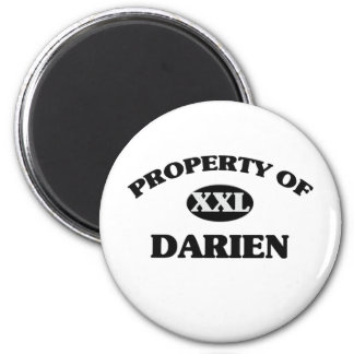 Property of DARIEN 2 Inch Round Magnet