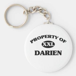 Property of DARIEN Basic Round Button Keychain