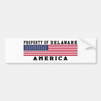 Property Of Delaware Bumper Sticker