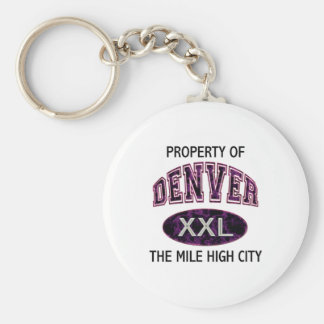 PROPERTY OF DENVER THE MILE HIGH CITY KEYCHAINS