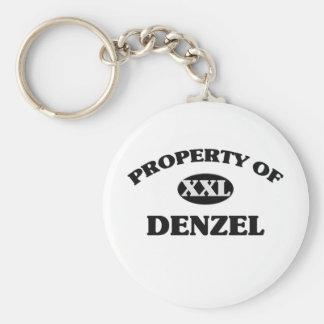 Property of DENZEL Basic Round Button Keychain