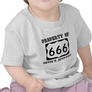 Property Of Devil's Highway (Route 666) T-shirts