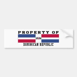 Property Of Dominican Republic Bumper Sticker