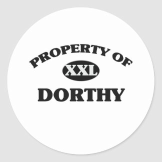 Property of DORTHY Round Stickers