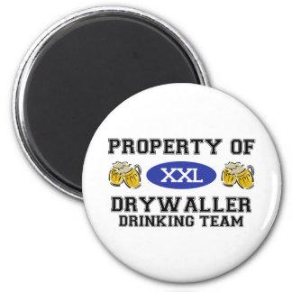Property of Drywaller Drinking Team Refrigerator Magnet