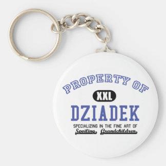 Property of Dziadek Keychains