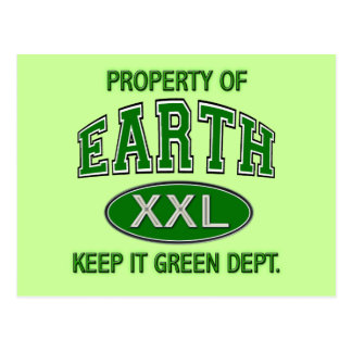PROPERTY OF_EARTH KEEP IT CLEAN DEPT POSTCARD