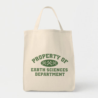 Property Of Earth Sciences Department Tote Bags