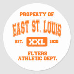 Property of East St. Louis Athletic Dept. Stickers