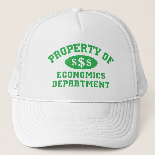 Property Of Economics Department Trucker Hat