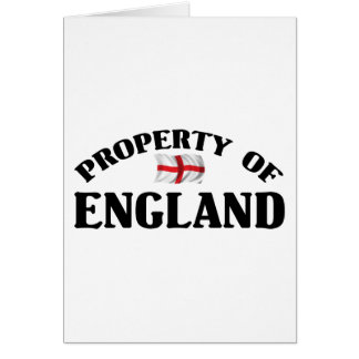 Property Of England Card