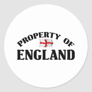 Property Of England Classic Round Sticker