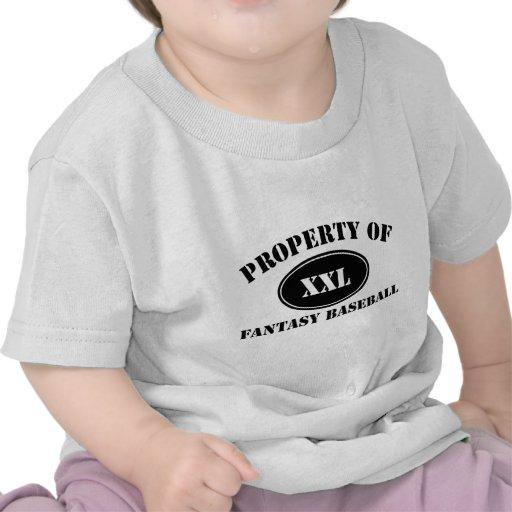 Property of Fantasy Baseball Tee Shirt