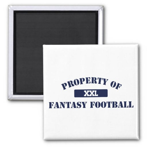 Property of Fantasy Football 2 Inch Square Magnet