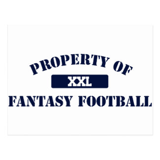 Property of Fantasy Football Postcard