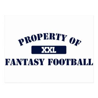 Property of Fantasy Football Postcard