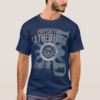 Property of Fatherhood Athletic Dark T-Shirt