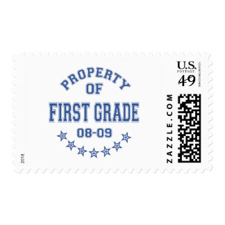Property Of First Grade Postage
