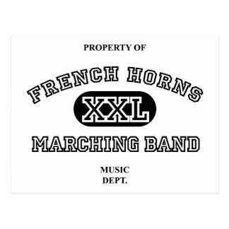 Property of French Horns Postcard