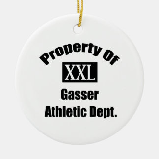 Property Of Gasser By Gear4gearheads Double-Sided Ceramic Round Christmas Ornament