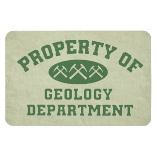 Property Of Geology Department Rectangle Magnets
