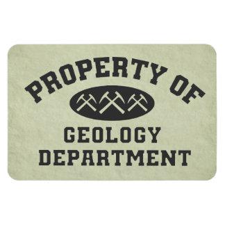Property Of Geology Department Vinyl Magnet