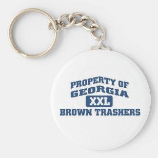 Property of georgia XXL Brown Trashers Basic Round Button Keychain