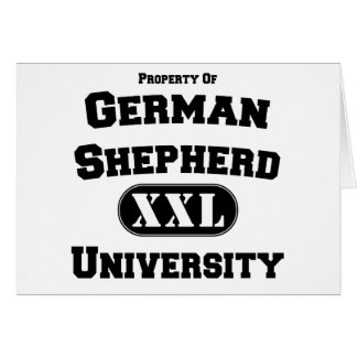 Property of German Shepherd University Card