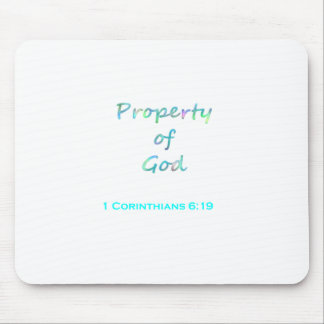 Property of God Mouse Pad