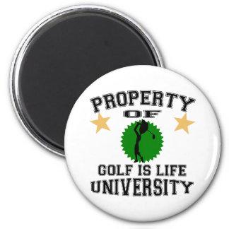 Property Of Golfer University Magnets