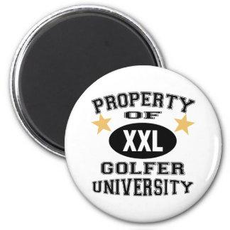 Property Of Golfer University Magnet