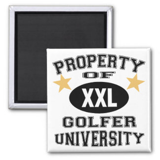 Property Of Golfer University Fridge Magnets