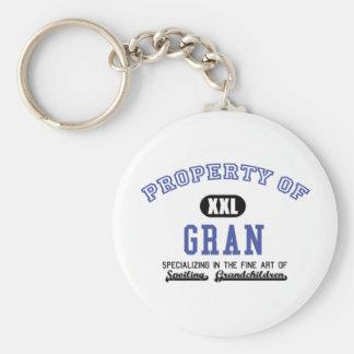 Property of Gran Basic Round Button Keychain