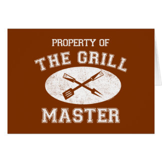 Property of Grill Master Greeting Cards