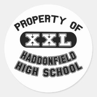 Property of Haddonfield High School Classic Round Sticker