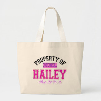 PROPERTY OF HAILEY LARGE TOTE BAG