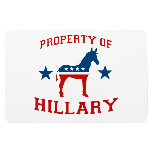 PROPERTY OF HILLARY.png Vinyl Magnets