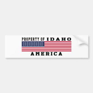 Property Of Idaho Car Bumper Sticker