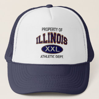 PROPERTY OF ILLINOIS ATHLETIC DEPTARTMENT TRUCKER HAT