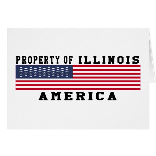 Property Of Illinois Greeting Card