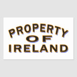 Property Of Ireland Rectangle Stickers