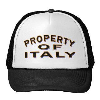 Property Of ITALY Trucker Hat