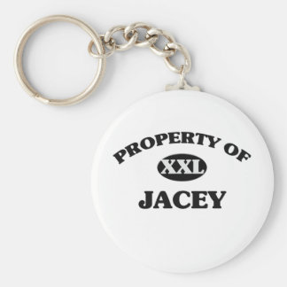 Property of JACEY Basic Round Button Keychain