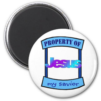 Property of Jesus my savior Christian 2 Inch Round Magnet