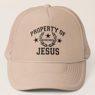PROPERTY OF JESUS TRUCKER HAT
